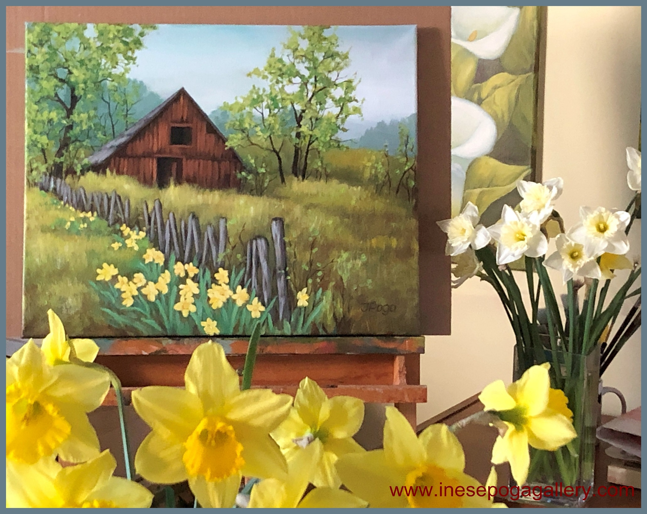 Spring Paintings In Acrylic Inese Poga Art And Paintings